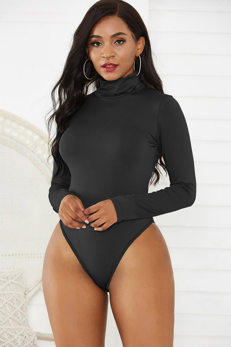 Load image into Gallery viewer, Black One Pieces Long Sleeves Bodysuit