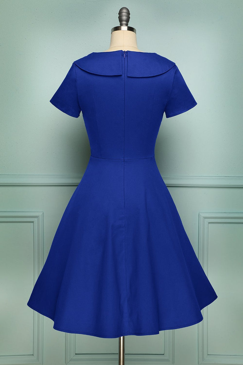 Load image into Gallery viewer, Blue Button Dress - ZAPAKA