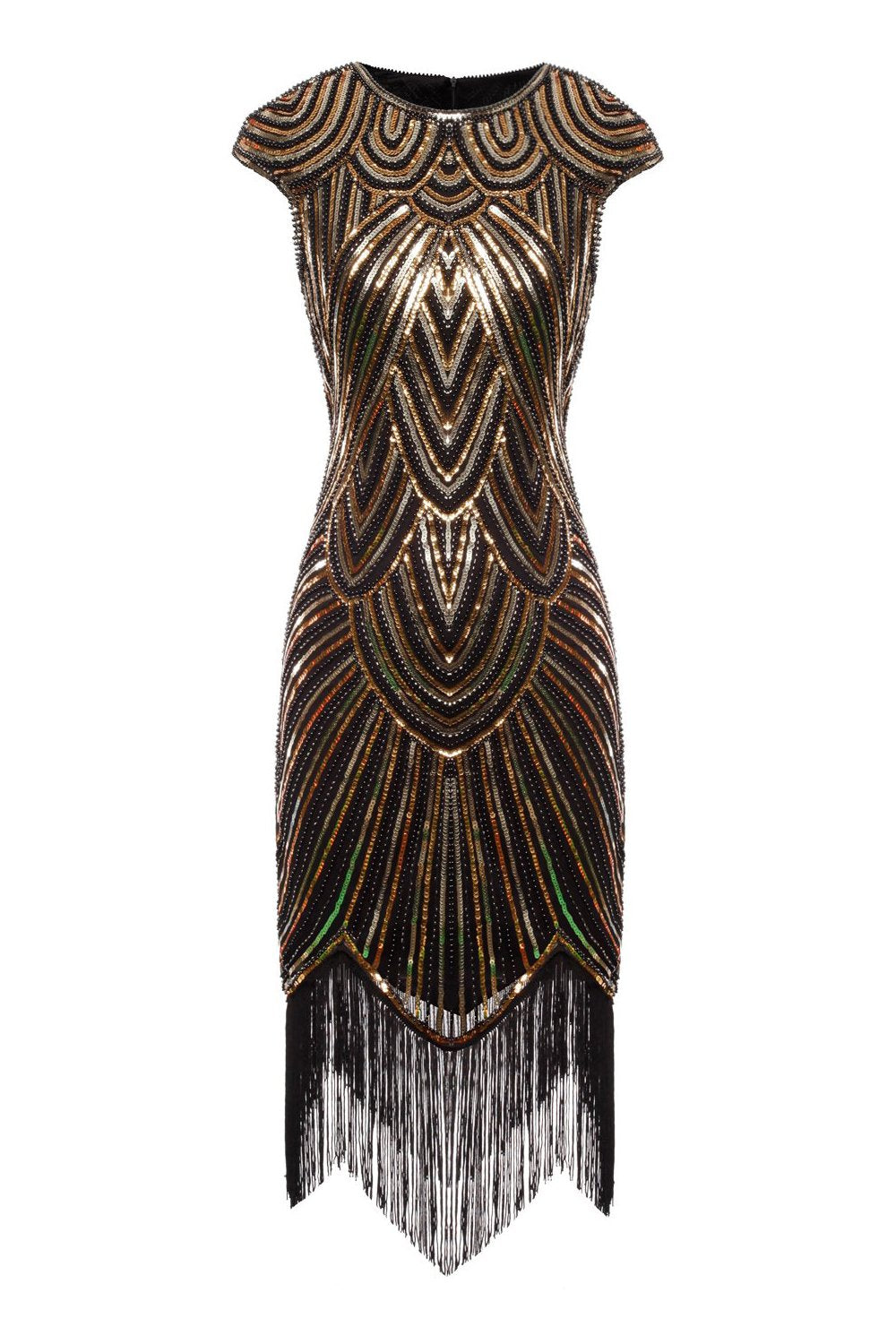 Gatsby Glitter Fringe 1920s Dress