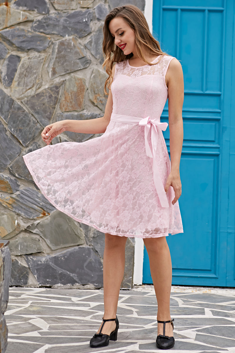 Load image into Gallery viewer, Pink Lace Dress