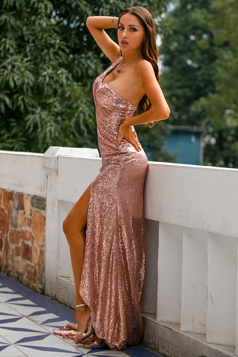 Load image into Gallery viewer, Sequin Prom Bridesmaid Dress