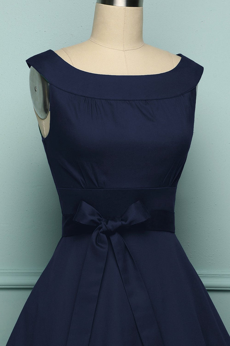 Load image into Gallery viewer, Navy 1950s Swing - ZAPAKA