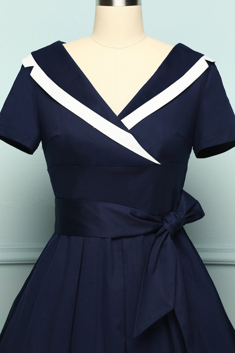 Load image into Gallery viewer, Navy Soldier Dress - ZAPAKA