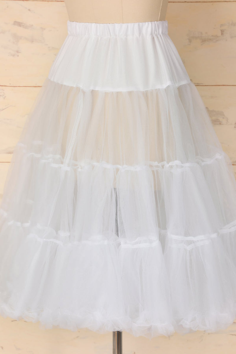 Load image into Gallery viewer, White Tulle Petticoat - ZAPAKA