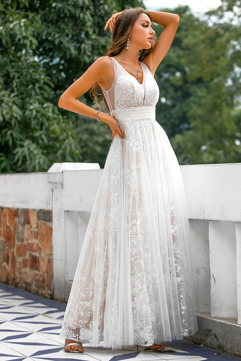 Load image into Gallery viewer, Lace Long Prom Dress