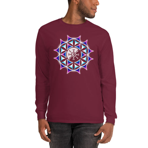 Galactic Mandala (Transparent) Unisex Long Sleeve Shirt