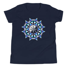 Load image into Gallery viewer, Galactic Mandala (Transparent) Youth Unisex T-Shirt