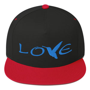 LOVE (Blue Thread) Flat Rim Hat