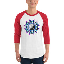Load image into Gallery viewer, Rainbow Galactic Mandala ~ Unisex 3/4 Sleeve Shirt
