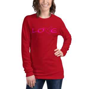 LOVE (Pink) ~ Unisex Long Sleeve Shirt