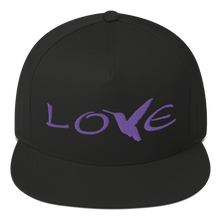 Load image into Gallery viewer, LOVE (Purple Thread) Flat Rim Hat