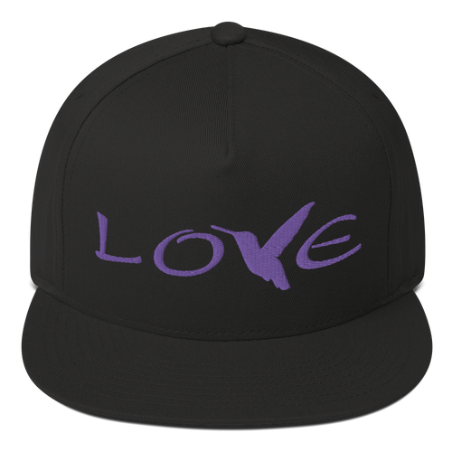 LOVE (Purple Thread) Flat Rim Hat