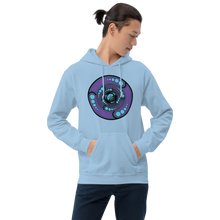 Load image into Gallery viewer, Galactic Portal (Purple & Turquoise) ~ Unisex Hoodie