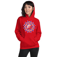 Load image into Gallery viewer, Rainbow Galactic Mandala (Transparent) Unisex Hoodie