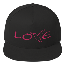 Load image into Gallery viewer, LOVE (Pink Thread) Flat Rim Hat