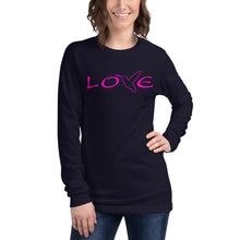 Load image into Gallery viewer, LOVE (Pink) ~ Unisex Long Sleeve Shirt