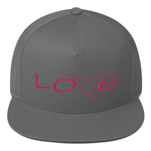 LOVE (Pink Thread) Flat Rim Hat