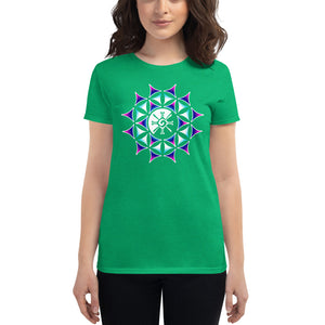Rainbow Galactic Mandala (Transparent) Women's T-Shirt