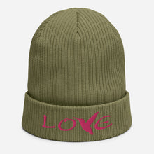 Load image into Gallery viewer, LOVE (Pink Thread) ~ Organic Cotton Beanie