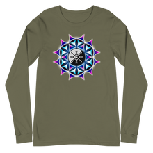 Load image into Gallery viewer, Rainbow Galactic Mandala ~ Unisex Long Sleeve