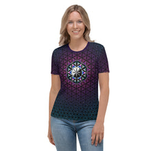 Load image into Gallery viewer, Galactic Mandala ~ Women's All-Over-Print T-shirt