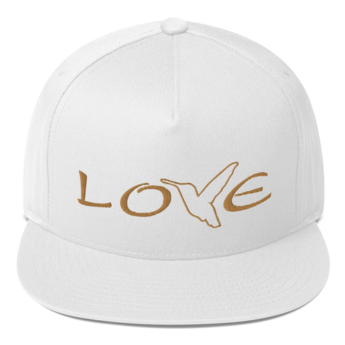 LOVE (Gold Thread) Flat Rim Hat