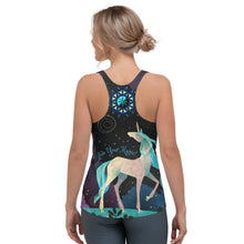 Load image into Gallery viewer, Cosmic Unicorn ~ Women's All-over-print Racerback Tank