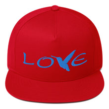 Load image into Gallery viewer, LOVE (Blue Thread) Flat Rim Hat