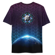 Load image into Gallery viewer, Earthrise Galactic Mandala ~ Men's All-Over-Print T-shirt