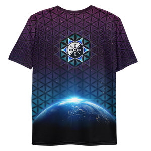 Earthrise Galactic Mandala ~ Men's All-Over-Print T-shirt