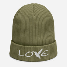 Load image into Gallery viewer, LOVE (White Thread) ~ Organic Cotton Beanie