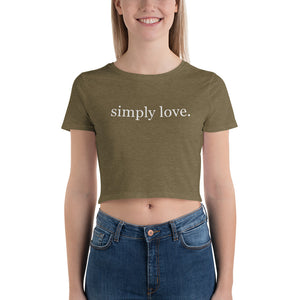 Simply Love ~ Women's Crop Tee