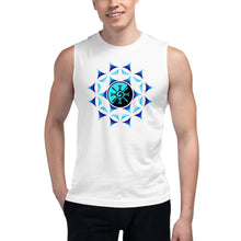 Load image into Gallery viewer, Blue Galactic Mandala ~ Unisex Sleeveless Shirt