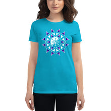 Load image into Gallery viewer, Rainbow Galactic Mandala (Transparent) Women's T-Shirt