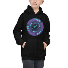 Load image into Gallery viewer, Galactic Portal (Open Purple & Turquoise) ~ Kids Unisex Hoodie