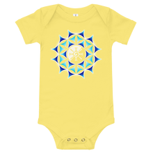 Load image into Gallery viewer, Galactic Mandala (Transparent) Baby Onesie