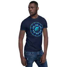 Load image into Gallery viewer, Blue Galactic Mandala ~ Unisex T-Shirt