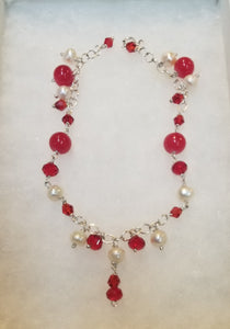 Red Ruby Pearl Bracelet