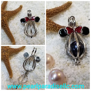 Minnie Mouse Cage Pendant