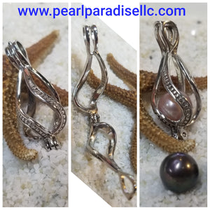 Twisted Teardrop Cage Pendant