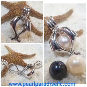 Double Dolphin Cage Pendant