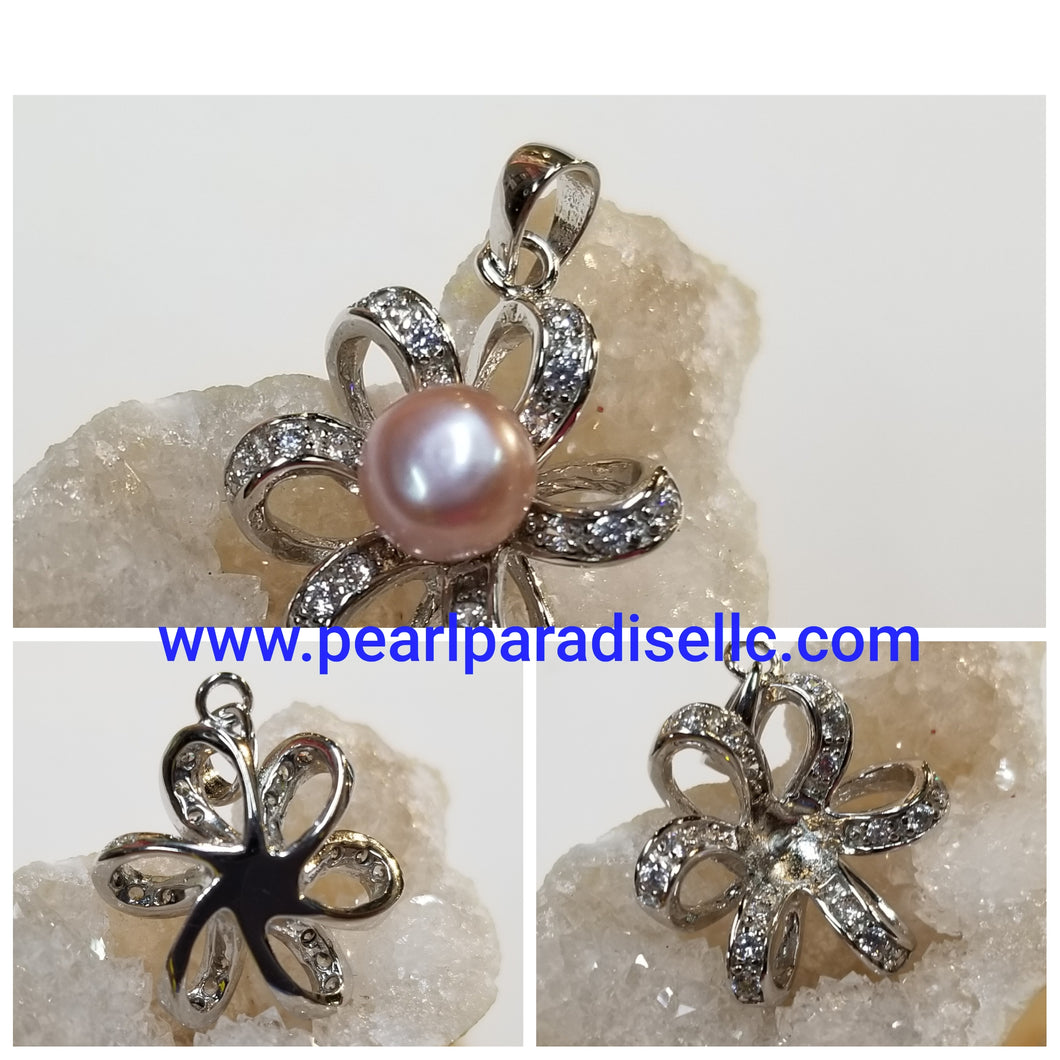 Flower Puff Mount Pendant