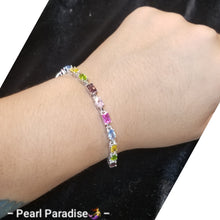 Load image into Gallery viewer, Mix-Shape Colorful Gemstone Bracelet