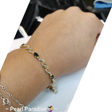 Load image into Gallery viewer, Black Diamond Gold Plated Bracelet