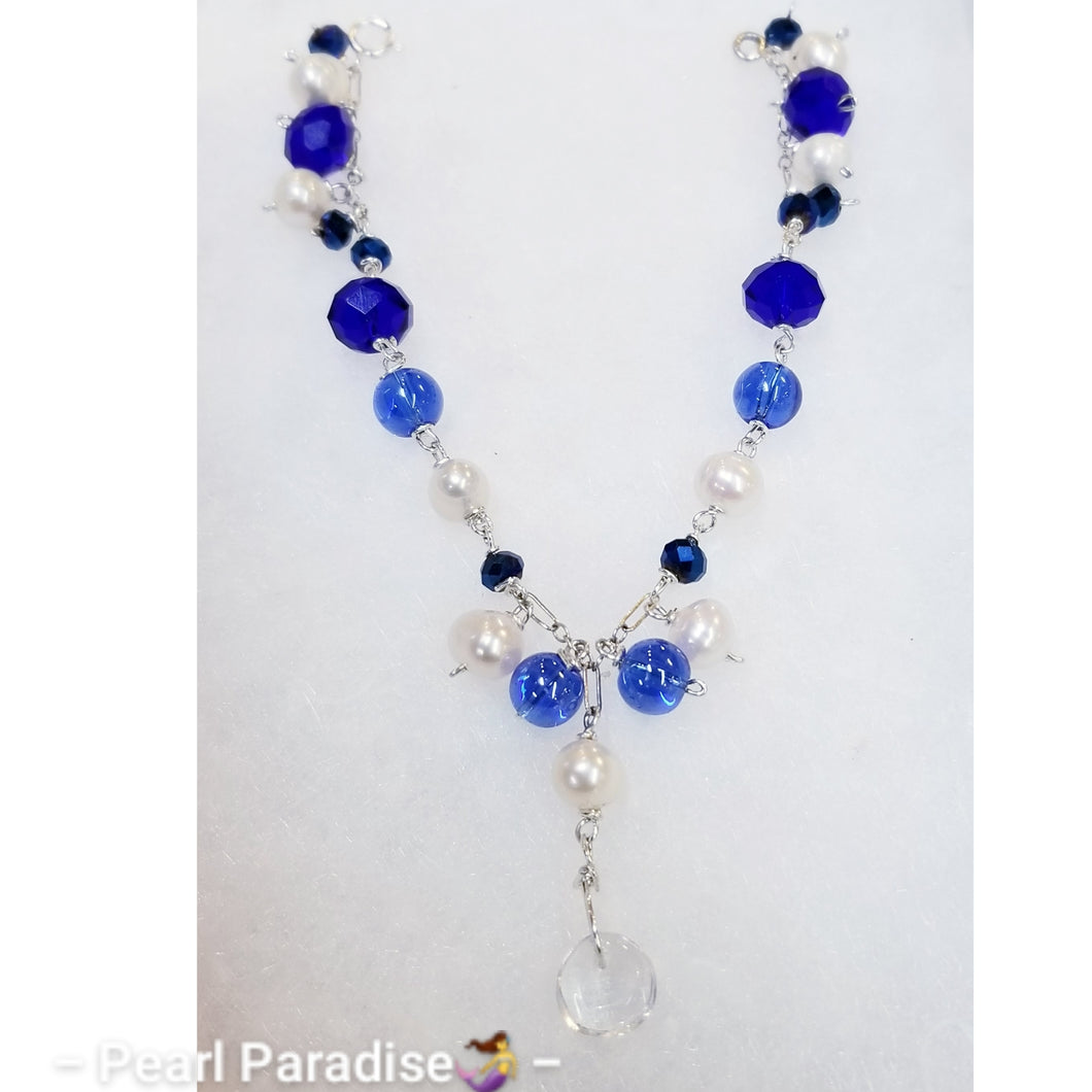 Royal Blue Pearl Bracelet