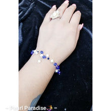 Load image into Gallery viewer, Royal Blue Pearl Bracelet