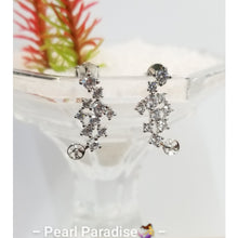 Load image into Gallery viewer, Stunning CZ Akoya Pearl Earrings