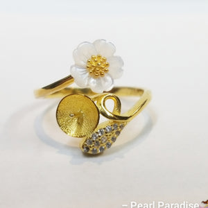 Mother Oyster Flower Ring Mount