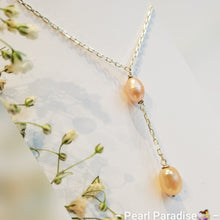 Load image into Gallery viewer, Double Drip Pearl Necklace
