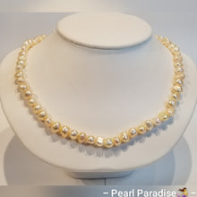 Load image into Gallery viewer, Cream Freshwater Nugget Pearl Necklace